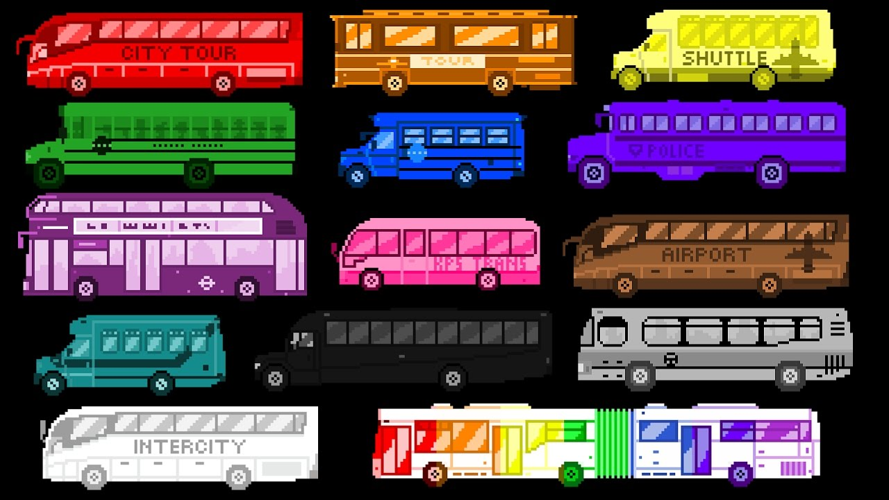 bus-colors-street-vehicles-the-wheels-on-the-bus-the-kids-picture-show-fun-educational