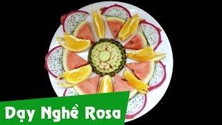 Trang trí đĩa trái cây - Xếp trái cây lạnh