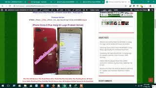 iPhone Clone 8 Plus Flash File MT6580 6.0 Hang On Logo Lcd Fix Update Firmware Stock Rom