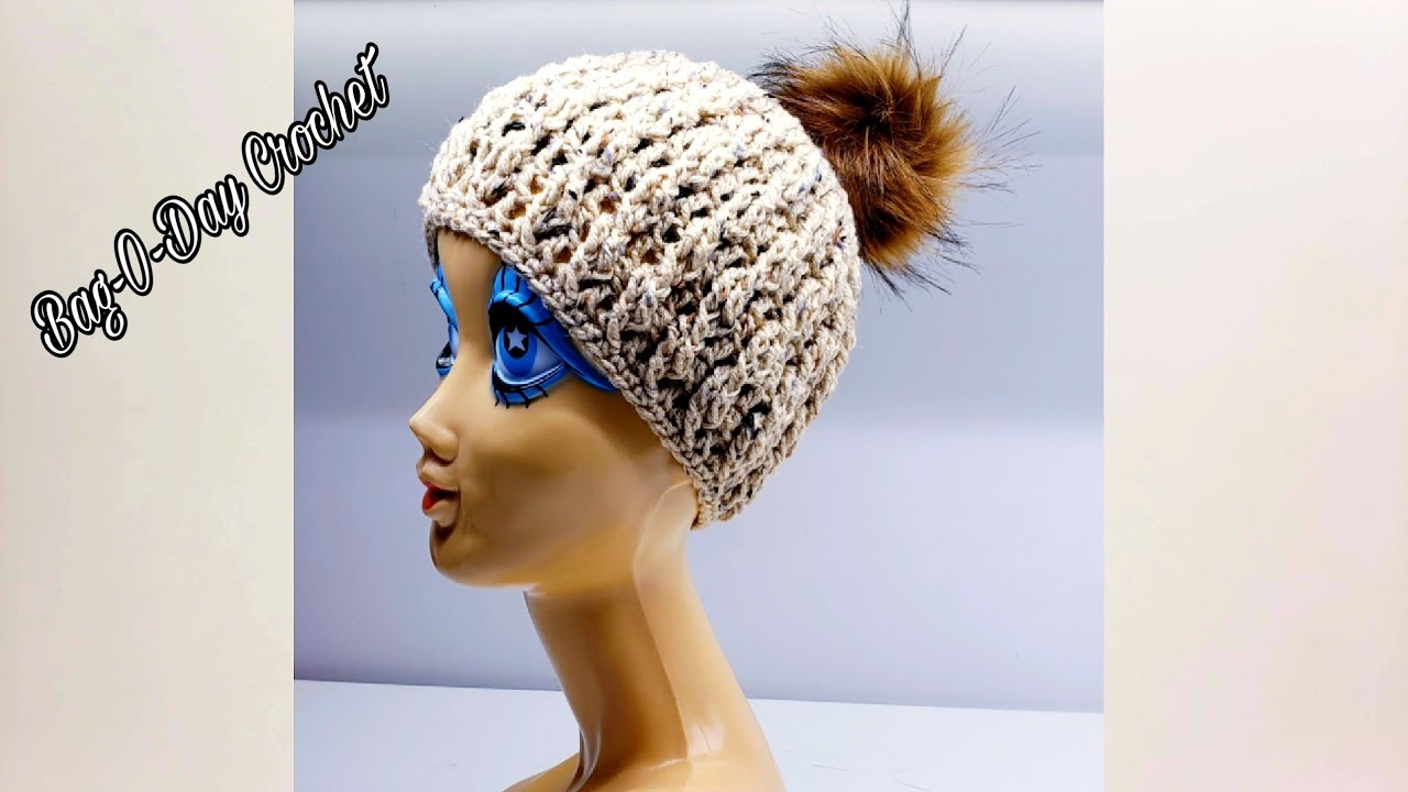 d83efd91c10 How To Crochet A Cable Beanie Hat - Twisted Toffee - Bag O Day Crochet  Tutorial  538