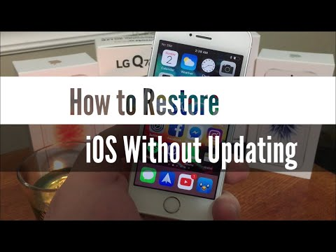How To Restore IOS Without Updating