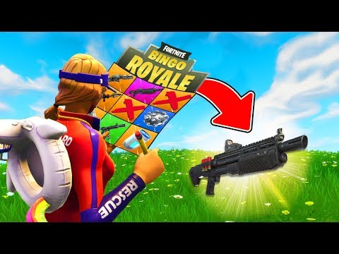 *ULTIMATE* BINGO In Fortnite Battle Royale!