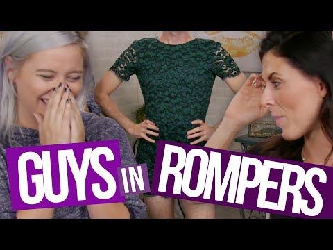 GUYS TRY GIRL ROMPERS (Beauty Break)