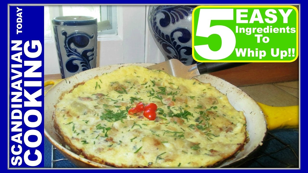 5 Ingredients 🍴 How To Make The Easiest Leftover Omelette With German  Potato Salad #omelette recipe