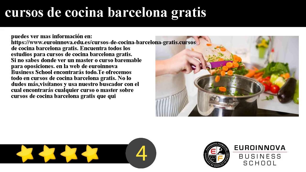 Cursos de cocina barcelona gratis youtube - Cursos de cocina barcelona ...
