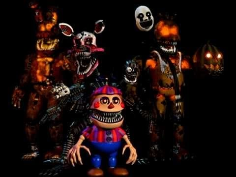 Five Nights at Freddy's 4 Jumpscares FNAF 4 Halloween Edition ...