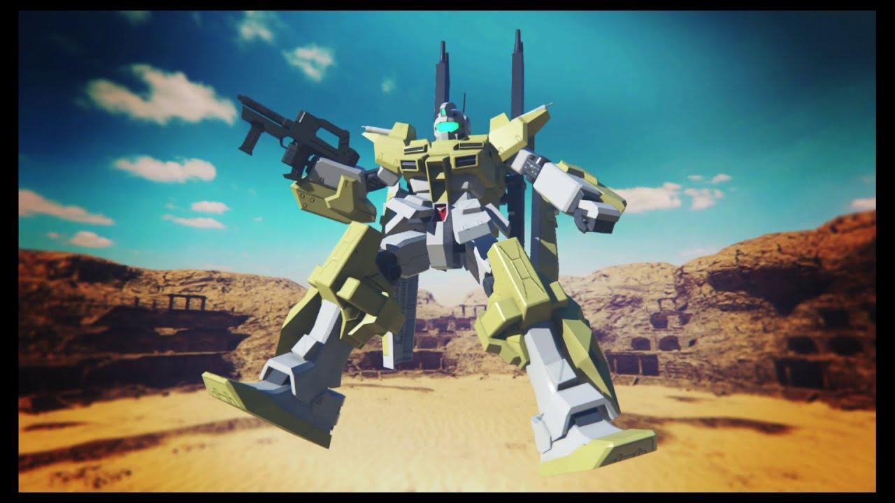 Powered Gm Cardigan Demonstration Gundam Breaker 3 English Youtube