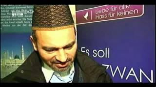 Plakataktion der Ahmadiyya Muslim Jamaat in München - Muslime für Frieden - Islam Ahmadiyya