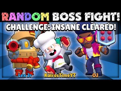 Beating INSANE Mode Using RANDOM [TERRIBLE] Brawlers in Boss Fight with Lex & OJ!