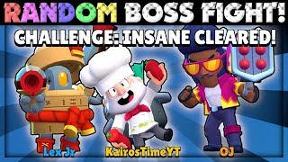 Gambar cover Beating INSANE Mode Using RANDOM [TERRIBLE] Brawlers in Boss Fight with Lex & OJ!