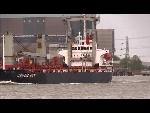 CENGIZ BEY Cargo Ship for Silvertown, 22/04/2018. Thames Shipping by R.A.S.