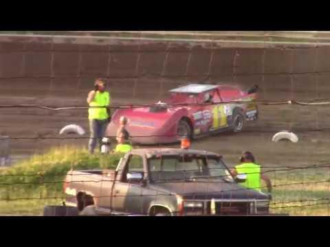Hummingbird Speedway (7-13-19): BWP Bats Super Late Model Heat Race #1