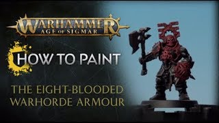 How to Paint: The Eight-Blooded Warhorde Armour
