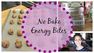 No Bake Recipe: Energy Protein Bites!