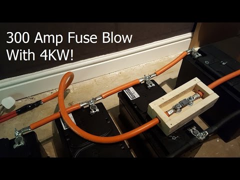 300 Amp Fuse Blowing with 4KW of Load from an Inverter - Safety Mechanism Prepare for the Unexpected