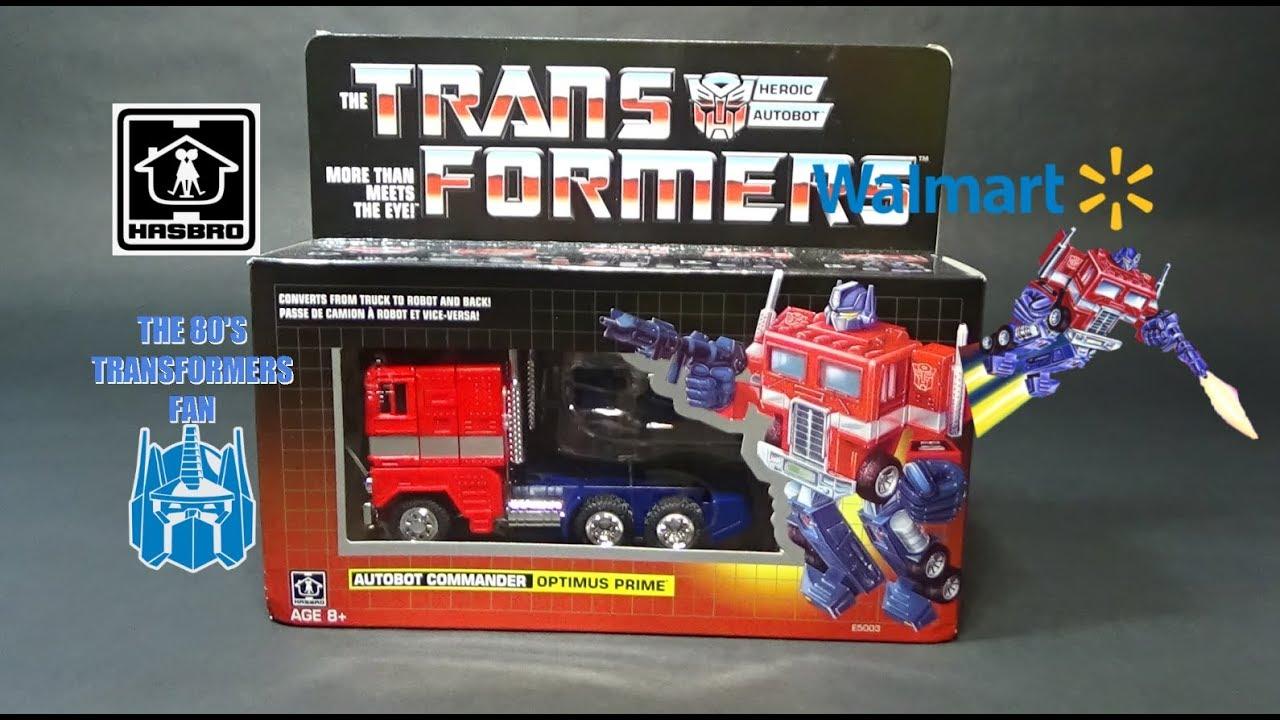 Transformers Walmart Reissue G1 Optimus Prime Toy Review