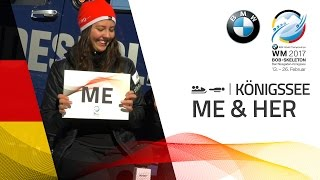 Me & Her with the Rebsamen, rivals twins from Switzerland | BMW IBSF World Championships 2017
