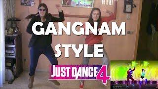 "Just Dance 4 ""Gangnam style""   Jugando con Kinect"