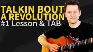 Guitar Lesson: How to play Talking about a revolution - Tracy Chapman - intro&Verse&chorus