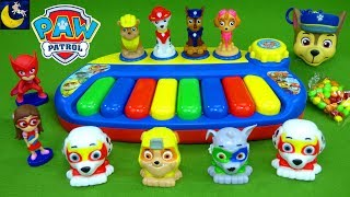 Lots of Paw Patrol Surprise Mashems Mighty Pups Super Paws PJ Masks Toys Toy Piano Keyboard for Kids