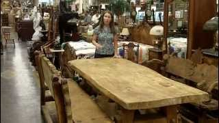 Primitive Table With Bench Seats From Our Antiques Mall At Gannon's Antiques & Art.