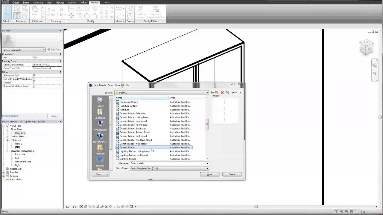 Revit Tutorial Custom Shaker Cabinet Family Youtube
