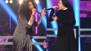 Suor Cristina Scuccia Nun Vs Luna Palumbo - The Voice IT | Serie 2 | Battle 2014