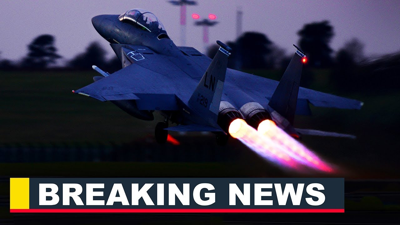 Watch this Insane F-15E Strike Eagle Night Takeoff With Afterburner
