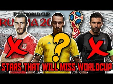 FIFA WORLD CUP MISSING XI  Stars that will MISS the WORLD CUP 2018 in RUSSIA
