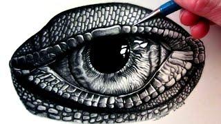 How to Draw a Lizard Eye