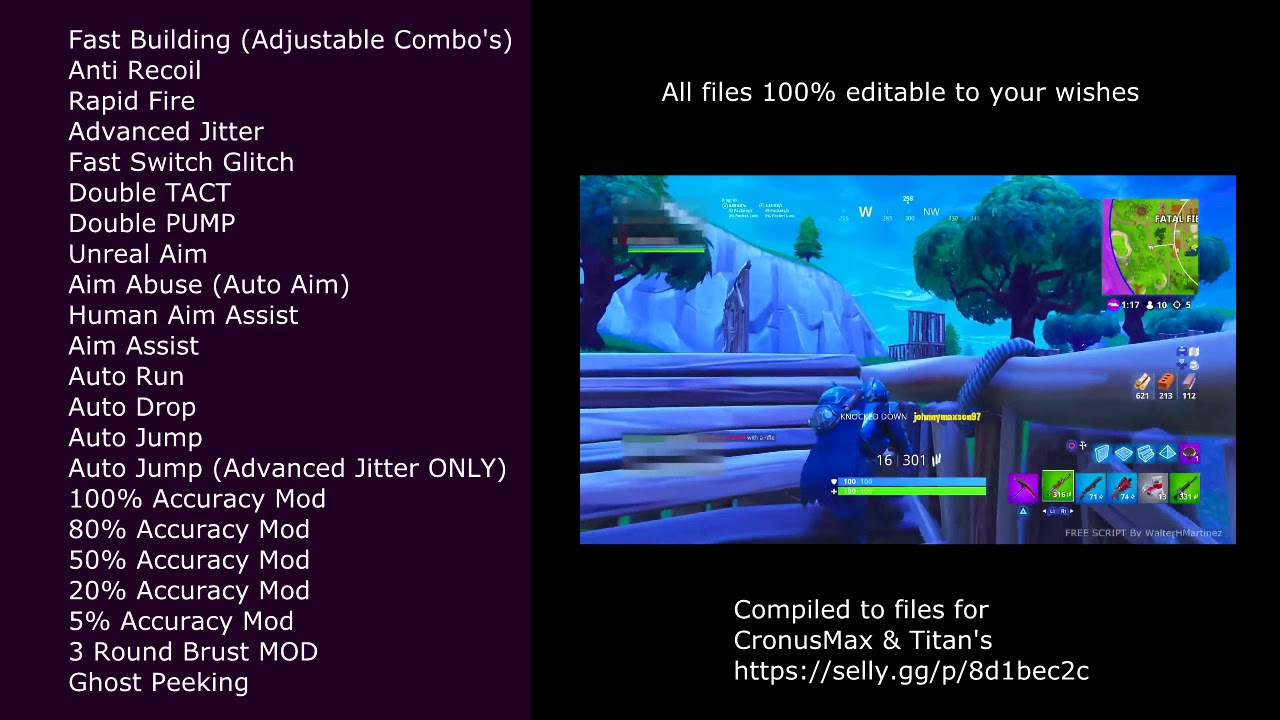NEW Fortnite CronusMAX GPC Scripts [PS4/XBOX/PC] [Fast Building, Unreal  Aimbot, Aim Assist AND MORE]