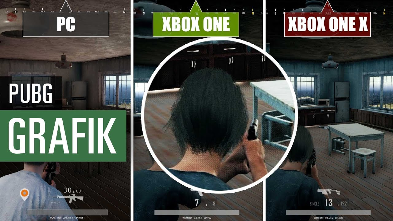 pubg pc vs xbox one x vs xbox one graphics