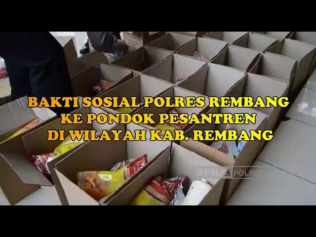 Baksos Polres Rembang ke Pondok Pesantren di wilayah Kabupaten Rembang.