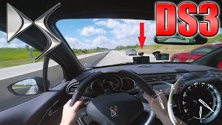2017 Citroën DS3 Sport Chic (0-225km/h) POV- Acceleration and Top speed TEST ✔