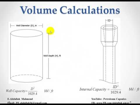 2-Volume, Capacities, Metal Displacement and Hole Calculations