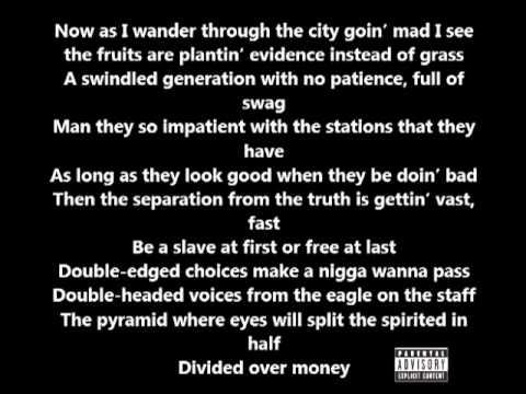 Lupe Fiasco - Strange Fruition (Lyrics On Screen) (Food & Liquor 2)