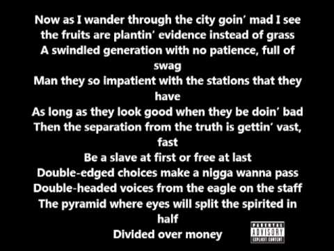 Lupe Fiasco - Strange Fruition (Lyrics On Screen) (Food & Liquor 2)