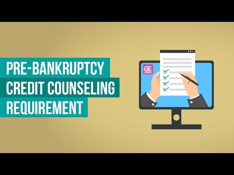 Pre Bankruptcy Credit Counseling Requirement