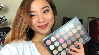 bh cosmetics neutral eyes 28 eyeshadow palette review