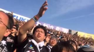 2014年5月25日甲子園にて。千葉ロッテ鈴木大地の応援.