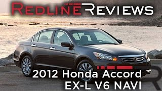 2012 Honda Accord EX-L V6 NAVI Walkaround, Exhaust, Review and Test Drive