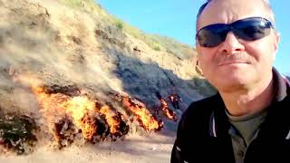 01.05.18. Yanar Dağ, горящая гора - природный вечный огонь