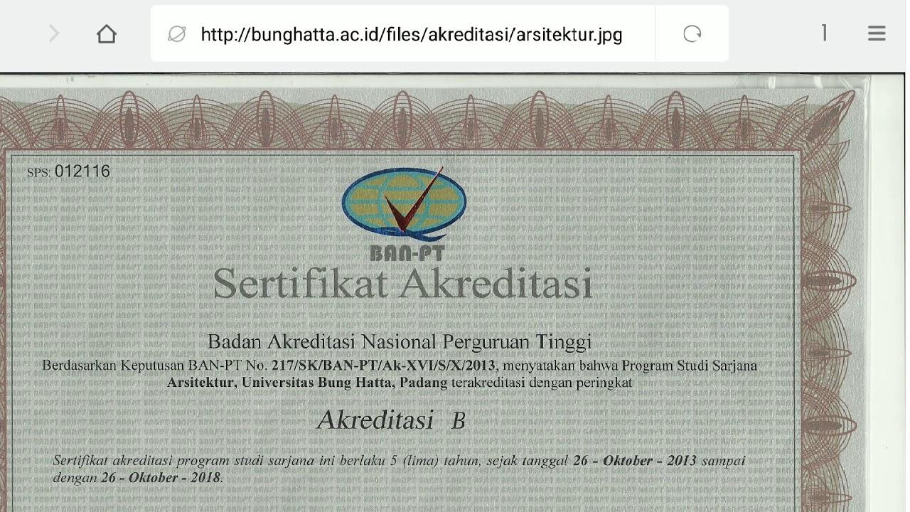 Download Surat Keterangan Akreditasi Dari Ban Pt ...