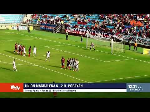 Unión Magdalena vs U. Popayán (5-2) | Torneo Aguila - Fecha 28