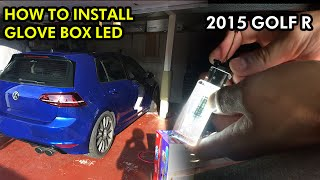homepage tile video photo for 2015 VW GOLF R: Glove Box LED Installation