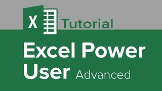 Excel Power User Advanced Tutorial