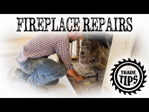 Chimney and Fireplace Repairs Removing Old Brick Hearth - Trade Tips