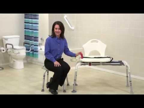 banc de transfert de bain coulissant prevenchute youtube. Black Bedroom Furniture Sets. Home Design Ideas