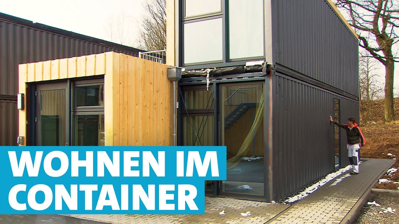 Wohnen Extrem Frachtcontainer Siedlung In Wertheim Youtube