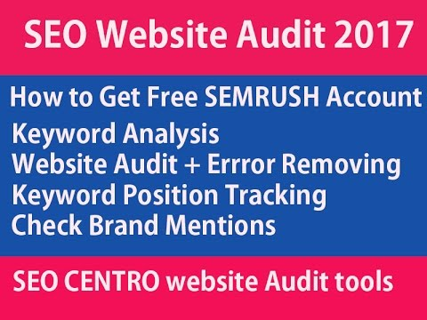 SEO website Audit 2017 : How To Audit your Website - remove errors -  Track keywords - Searches